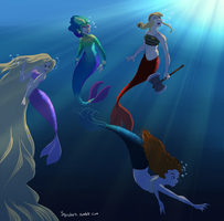 Mermaids by Topsie-Krett