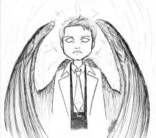 Supernatural - Castiel Angel of the Lord by kelly42fox