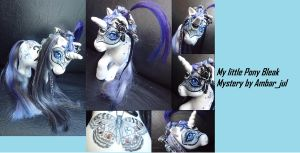 My little pony custom Masquerade Briana Bleak Myst by AmbarJulieta