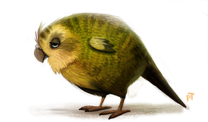 Day 566. Kakapo by Cryptid-Creations