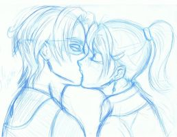 Sly and Loulou Kissing by pink-gizzy