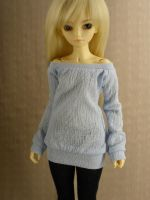 Pale Blue Shirt for MSD BJD by guppykisses