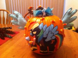 Rainbow Shadowbolt Pumpkin by Pippin-chan