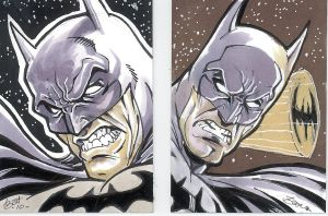 BATMAN Sketchcards by bathill8