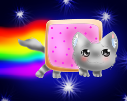 Nyan-Cat by Caytiechu