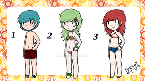 Swim Suit Adopts .:OPEN:. by oO0RyuuHeartsYou0Oo