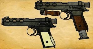 Steampunk Machine Pistol by CaldwellB734