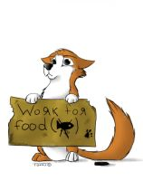 I'll work for food by Barscuk