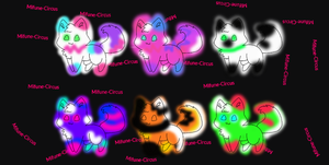 Bright glowing cats (Open) by Mifune-circus