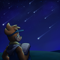 Roie and the Meteor Shower by BuizelCream