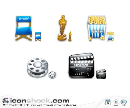 Filming vista icons by Iconshock