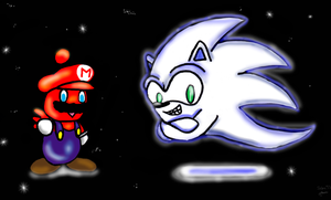 Chao Mario and Boo Sonic by Sedna93