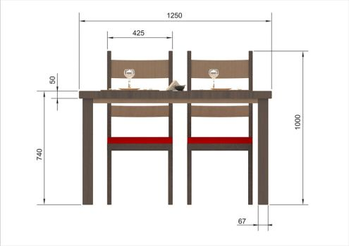 Furniture for cafe-bar 'Yes'_2 by Mladshoi