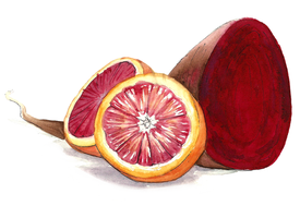 Blood Orange and Beet by cheeny