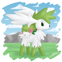 Shaymin - Sky and Land Form by Hakunaro