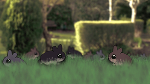 Nest of Garden Bunny Rabbits by AwakeNight