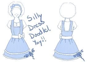 Light blue dress design by Digital-Twilight