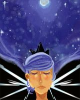 The Moon by miumiuchuu