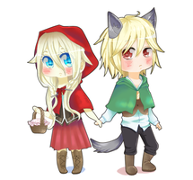 [IAxYohioloid] The Wolf fell in love w/ Little Red by shuchan01