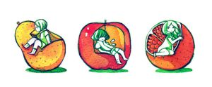 fruit seats by koyamori