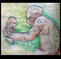 Sketch Book Project Reptilian Parent and Child by WeisseEdelweiss