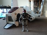 My custom Star Wars character and his ship by toyphototaker
