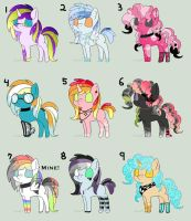 Scene Pony Adopts (8/9 open!) by WolvesDestinyBlood