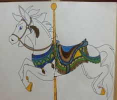 Carousel Horse 1 lineart by KM-cowgirl