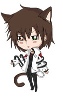 Kiriban -  Chibi Clover   [ Cute Neko Boy ] by CaptainMisuzu