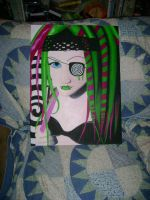Cyber goth finished painting. by CupCakeMonsterCrafts
