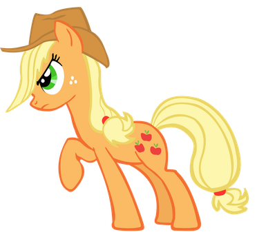 Angry Applejack Vector by 30ColoredOwl