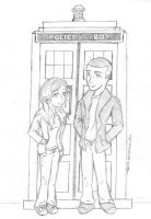 9th Doctor and Rose Tyler by lauu7