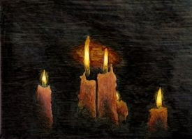Day 4 - Candles by silverz777