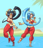 Cosplaying and dancing .:Commission: by MedleyAssault