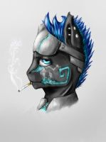 Smoking by SpannerPaint
