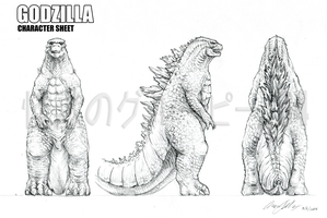 Godzilla 2014 Characer Sheet (At Request) by kaijugroupie84