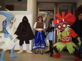 Majora's Mask cosplay group by Skull-the-Kid