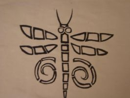 tribal Dragon- Butter fly by kirablack