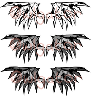 Tribal Tattoo wings. x1. by Owlgator