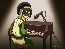 Toph the Blind Bandit Fanart by Kaek