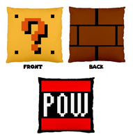 Mario Bros. Block Pillow Cases by Enlightenup23