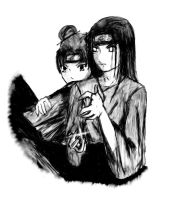 Naruto: Neji and Tenten by IshiKitsune