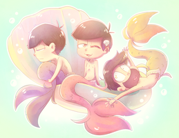 Undersea boys by Umishaii