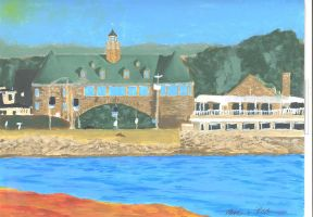 Narragansett Towers and Coast Guard House-2015 by MathewPiedoux