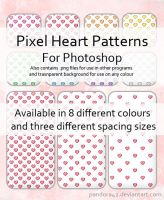 Pixel Heart Patterns for PS by Pandora42