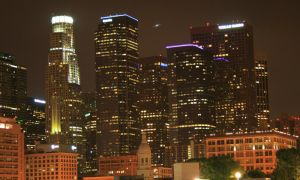 Los Angeles Downtown at Night. by leographics