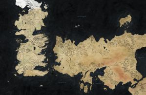 Game of Thrones HBO World Map by crlyle