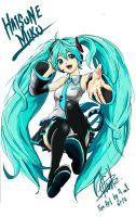 hatsune miku fan art by MassivePinkZombie