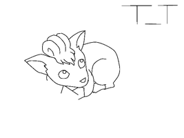 Vulpix first try by MoonlitDreamer13