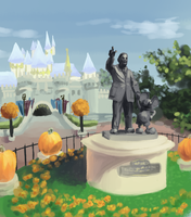 Disneyland Fall by Pokeaday